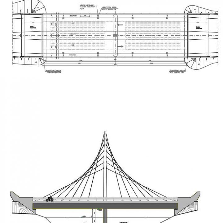 οδογέφυρα  στον χείμαρρο Ξηριά εντός της περιοχής λιμένος Βόλου
