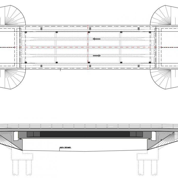 οδογέφυρα  στην θέση Β.Ι.Π.Ε. Αλμυρού