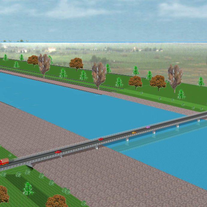 οδογέφυρα  στον Πηνειό ποταμό -οδού Αμπελώνα – Ροδιάς